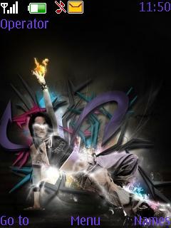 3D Dance Music Theme Mobile Theme