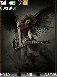 Angel Of Rock Theme Mobile Theme