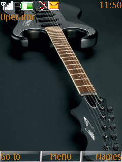 Black Guitar Nokia S40 Theme Mobile Theme