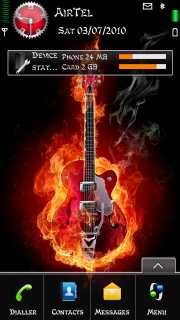 Fired Guitar Nokia Theme Mobile Theme