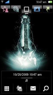 Guitar With Tone Theme Mobile Theme