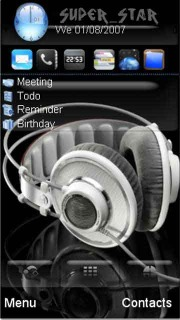 Head Phone Theme Mobile Theme