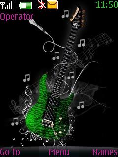 Animated Guitar Theme Mobile Theme
