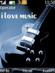 I Love Music Theme Mobile Theme