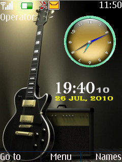 Guitar Dual Clcok Theme Mobile Theme