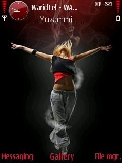 Dancing Girl Theme Mobile Theme