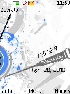 Blue Xpress Music Theme Mobile Theme