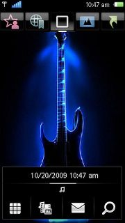 Neon Guitar Mobile Theme