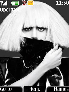 Black Lady Gaga Mobile Theme