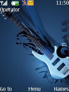 Bass Guitar Mobile Theme