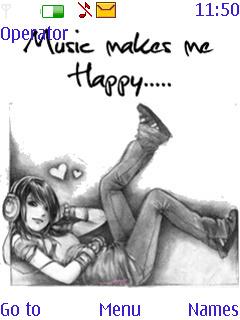 Music Girl Mobile Theme