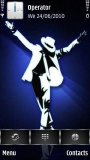 Michael Jackson Black Or White Mobile Theme