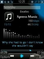 Xpress Music Player Mobile Theme