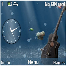 Underwater Guitar Mobile Theme