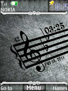 Note Clock Mobile Theme
