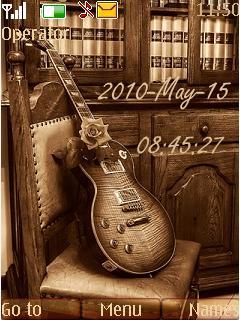 Guitar Clock Mobile Theme