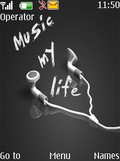 Music My Life Mobile Theme