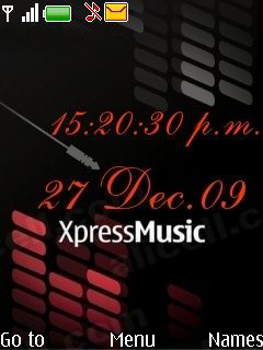 Xpress Nokia Digital Clock Mobile Theme