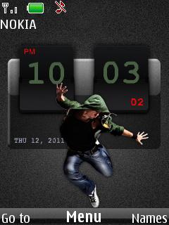 Dancer Clock Mobile Theme