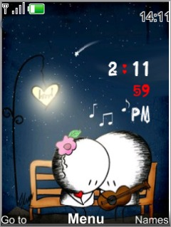 Music Love Clock Mobile Theme