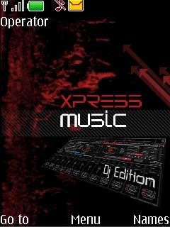 Xpress Dj Edition Mobile Theme