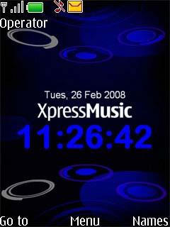 Xpress Blue Mobile Theme