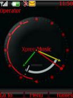 Xpress Music Clock Mobile Theme
