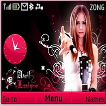 Avril Lavigne Mobile Theme