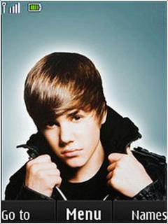 Animated Justin Bieber Mobile Theme