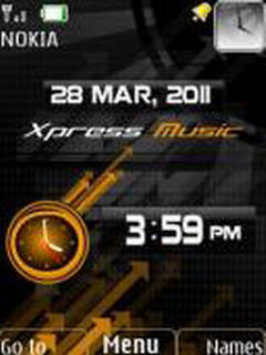 Xpress Music Clock S40 Theme Mobile Theme