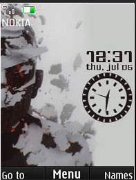 Linkin Park Clock Mobile Theme