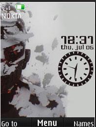 Linkin Park Clock Mobile Theme
