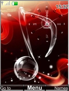 Swf Red Melody Clock S40 Theme Mobile Theme