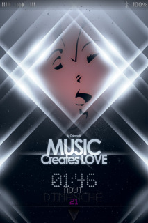 Music Creates Love For IPhone Theme Mobile Theme