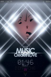 Music Creates Love For IPhone Theme Mobile Theme