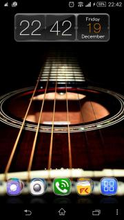 Guitar Music Play Android Theme Mobile Theme