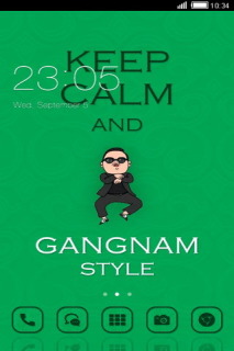 Keep Calm Gangnam Style Android Theme Mobile Theme