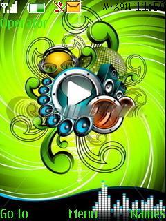 Music Player Mobile Theme