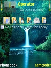 Water Falls Mobile Theme