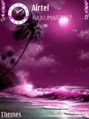 Pink Waves Mobile Theme