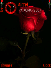 Red N Black Rose Mobile Theme