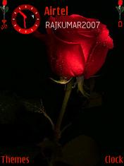 Red N Black Rose Mobile Theme