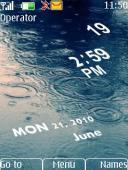 Rainy Clock Mobile Theme