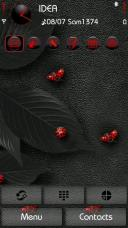 Red Bugs Mobile Theme