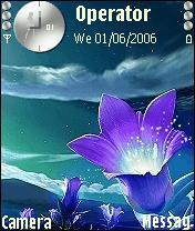 Blue Flower Mobile Theme