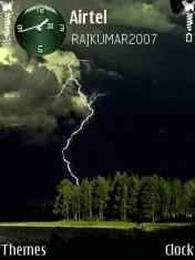 Forest Lightning Mobile Theme
