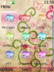 Beige Butterflies Mobile Theme