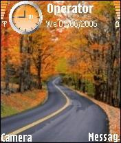 Autumn_Road Mobile Theme