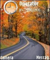 Autumn_Road Mobile Theme
