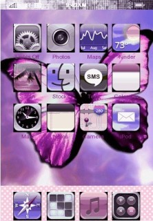 Purple Butterfly Mobile Theme